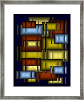 Glass Tile Abstract Framed Print by Terry Mulligan