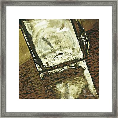 Glass Vase On  Polished Stone Framed Print by Sarah Loft