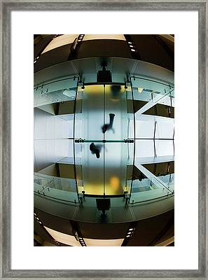 Glass Walkway Apple Store Stockton Street San Francisco Framed Print