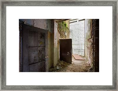 Glass Wall Light - Urban Decay Framed Print by Dirk Ercken