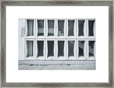 Glass Wall Framed Print by Tom Gowanlock