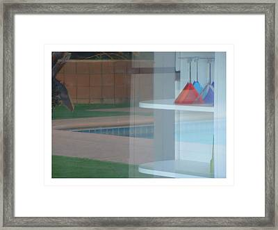 Glass Water Plastic Flutes Framed Print