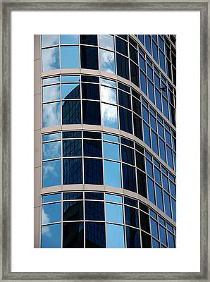 Glass Window Reflection Framed Print by Susanne Van Hulst