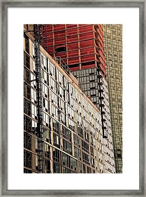 Glass Windows Framed Print by Gillis Cone