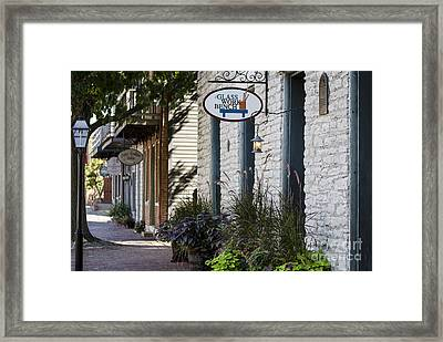 Glass Work Bench Framed Print