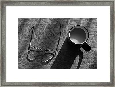 Glasses And Coffee Mug Framed Print