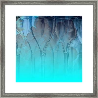 Framed Print featuring the digital art Glasses Floating by Allison Ashton
