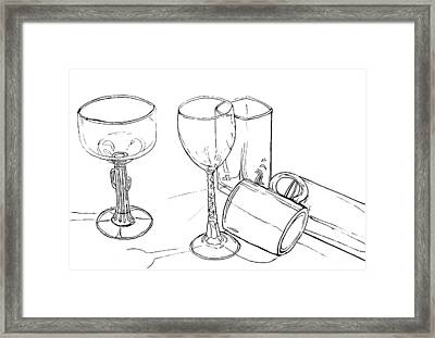 Glasses Framed Print by Jean Haynes