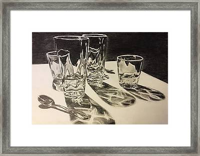 Glasses  Framed Print by Sage Burks