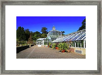 Glasshouse Entrance Framed Print