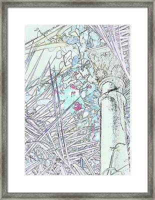 Framed Print featuring the photograph Glasshouse Jungle by Nareeta Martin