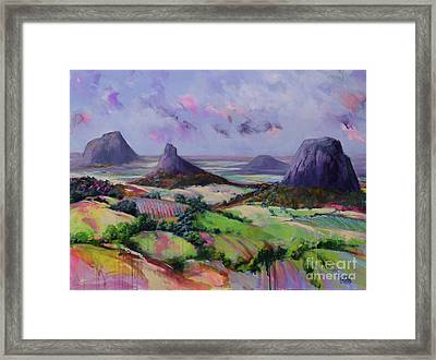 Glasshouse Mountains Dreaming Framed Print