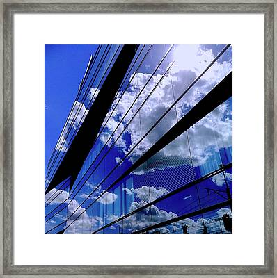 Glassy Confusion Framed Print