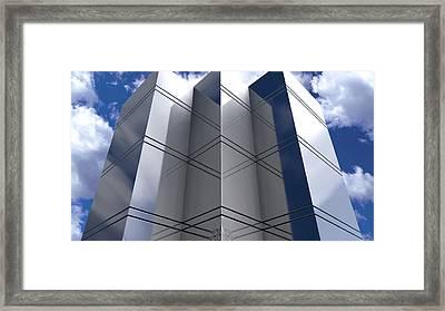 Glassy Skyscraper Framed Print