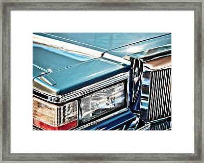 Gleaming 80s Cadillac Framed Print by Mr Doomits