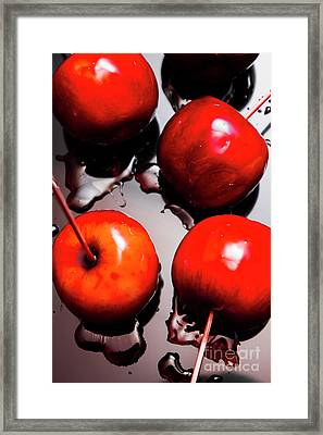 Gleaming Red Candy Apples Framed Print