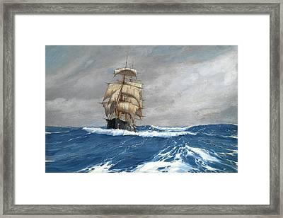 Gleaner At Sea Framed Print