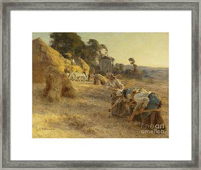 Gleaners Old Front Wheels Framed Print by Celestial Images
