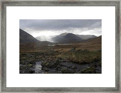 Glen Affric Storm Framed Print by Sue Arber
