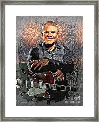 Glen Campbell - Singing Icon Framed Print
