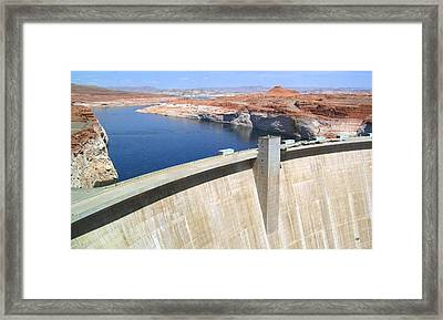 Glen Canyon Dam Framed Print by Will Borden