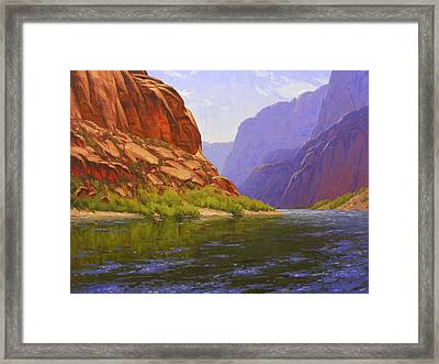 Glen Canyon Morning Framed Print