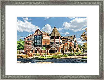 Framed Print featuring the painting Glen Ellyn Public Library by Christopher Arndt