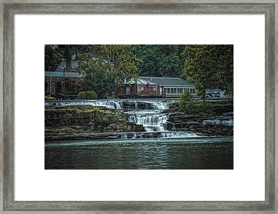 Glen Farris On The Falls Framed Print