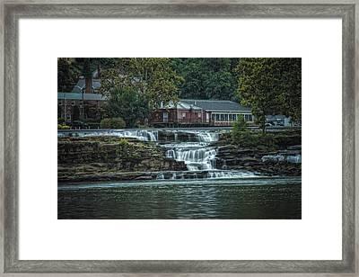 Glen Farris On The Falls Framed Print