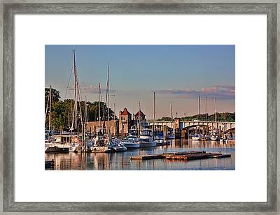 Glen Island Bridge Framed Print by June Marie Sobrito