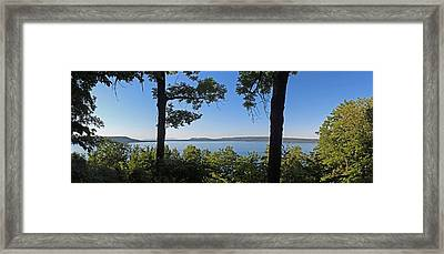 Glen Lake From Inspiration Point Framed Print by Twenty Two North Photography