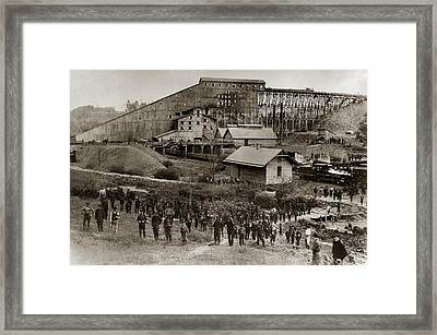 Glen Lyon Pa Susquehanna Coal Co Breaker Late 1800s Framed Print