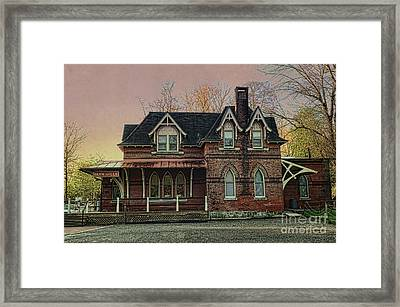 Glen Mill Train Station Framed Print