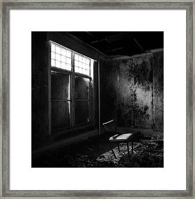 Crooked Chair Framed Print