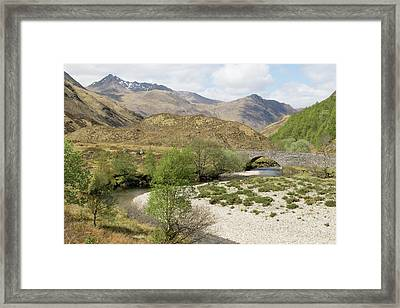 Framed Print featuring the photograph Glen Shiel - Scotland by Karen Van Der Zijden