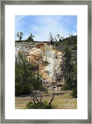 Glen Spring At Mammoth Hot Springs Upper Terraces Framed Print by Louise Heusinkveld