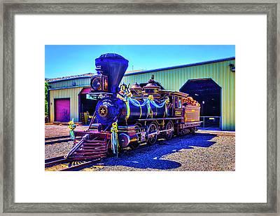 Glenbrook Ginerbread Locomotive Framed Print
