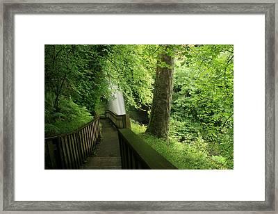 Glencar Waterfall Framed Print