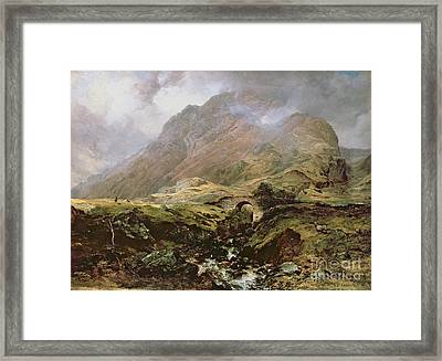 Glencoe Framed Print by Horatio McCulloch
