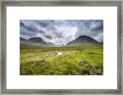 Framed Print featuring the photograph Glencoe by Jeremy Lavender Photography