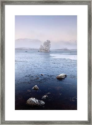 Framed Print featuring the photograph Glencoe Misty Winter Sunrise by Grant Glendinning