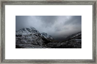 Framed Print featuring the digital art Glencoe - Three Sisters by Pat Speirs