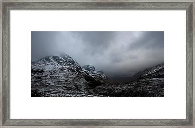 Glencoe - Three Sisters Framed Print by Pat Speirs