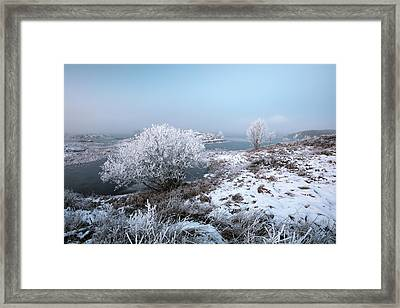 Framed Print featuring the photograph Rannoch Moor Winter Mist by Grant Glendinning