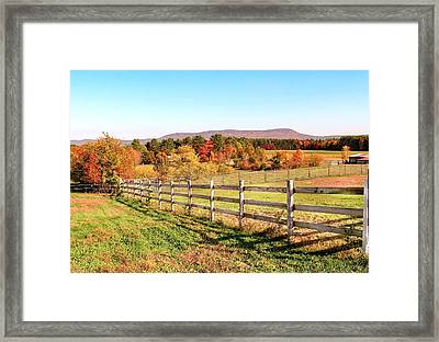 Glendale Road View In The Fall Framed Print