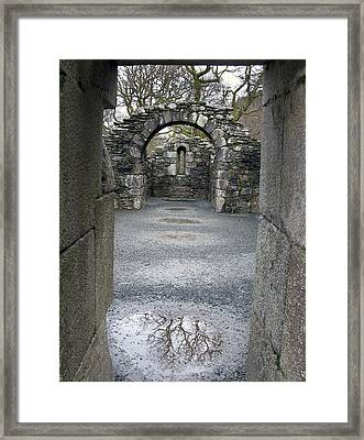 Glendalough Monestery Ireland Priest's House Framed Print by Richard Singleton