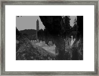 Glendalough View Framed Print by John Quinn