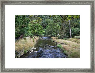 Framed Print featuring the photograph Glendasan River. by Terence Davis