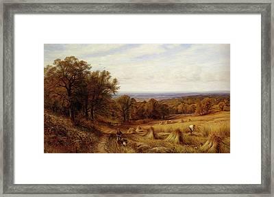 Glendening Alfred Augustus Harvest Time Framed Print