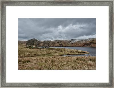 Framed Print featuring the photograph Glendevon Reservoir In Scotland by Jeremy Lavender Photography